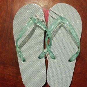New children glitter flip flops